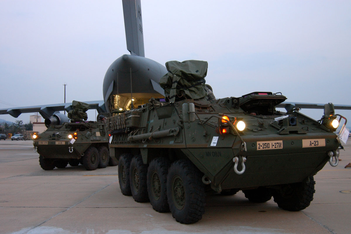 M1126 Stryker Combat Vehicle Military Com