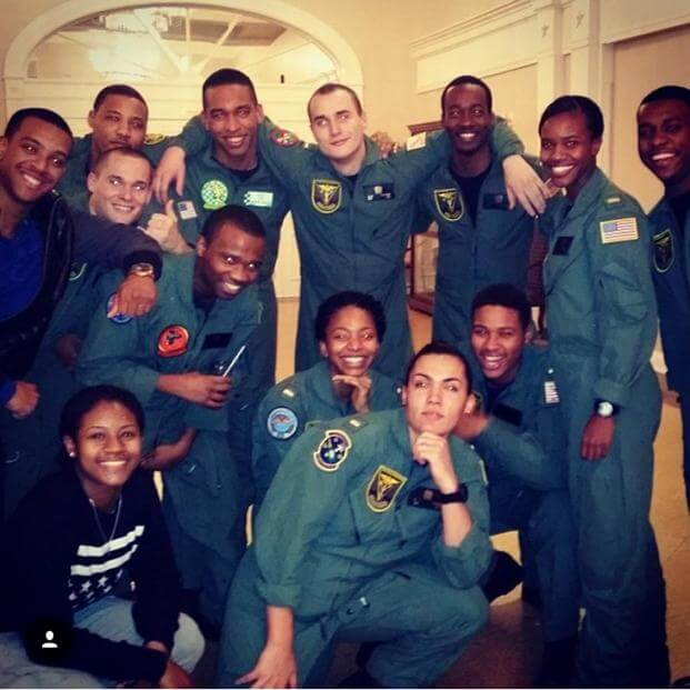 Photo taken in early 2014 at Training Squadron (VT-) 2 in Milton, Florida shows a dozen black aviation trainees. (Courtesy Courtland Savage)