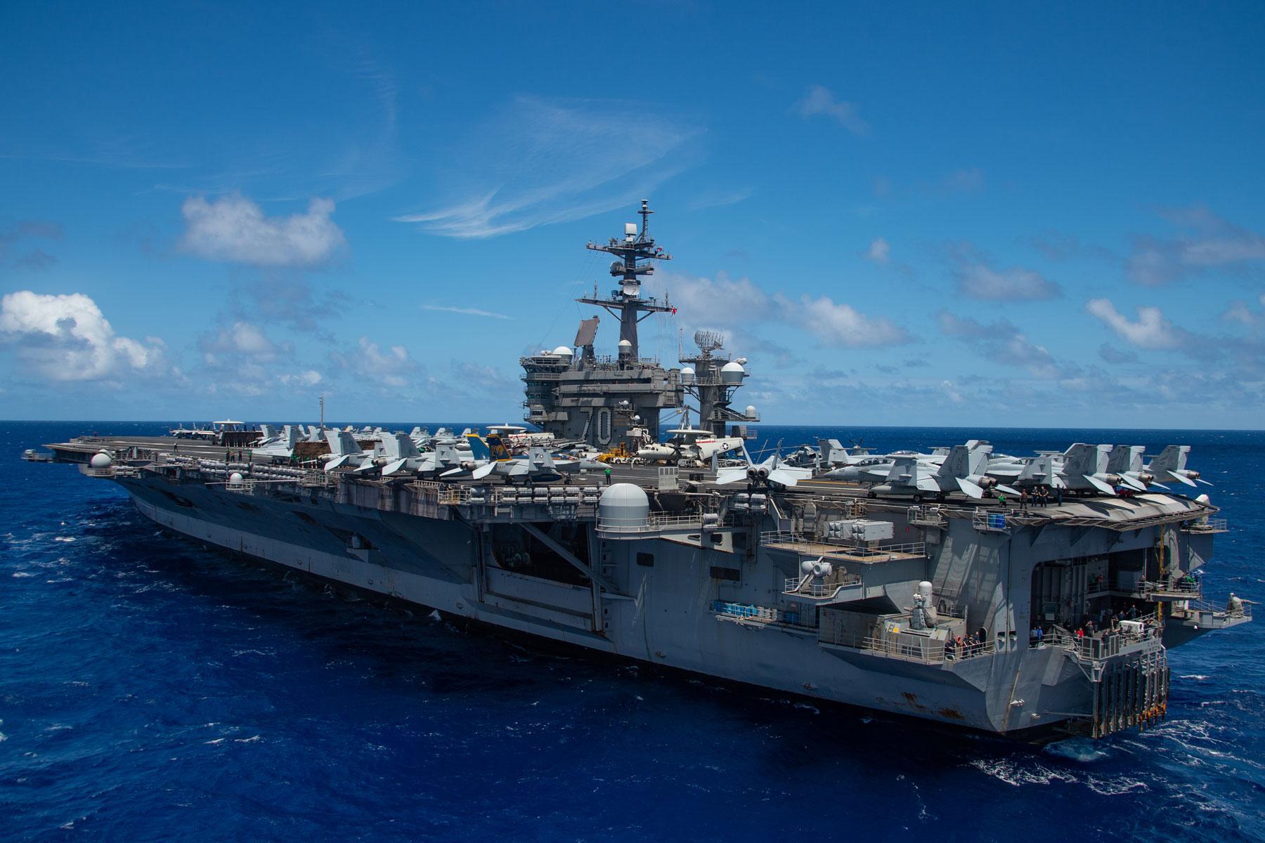 Aircraft Carrier Uss Carl Vinson Answers Distress Call