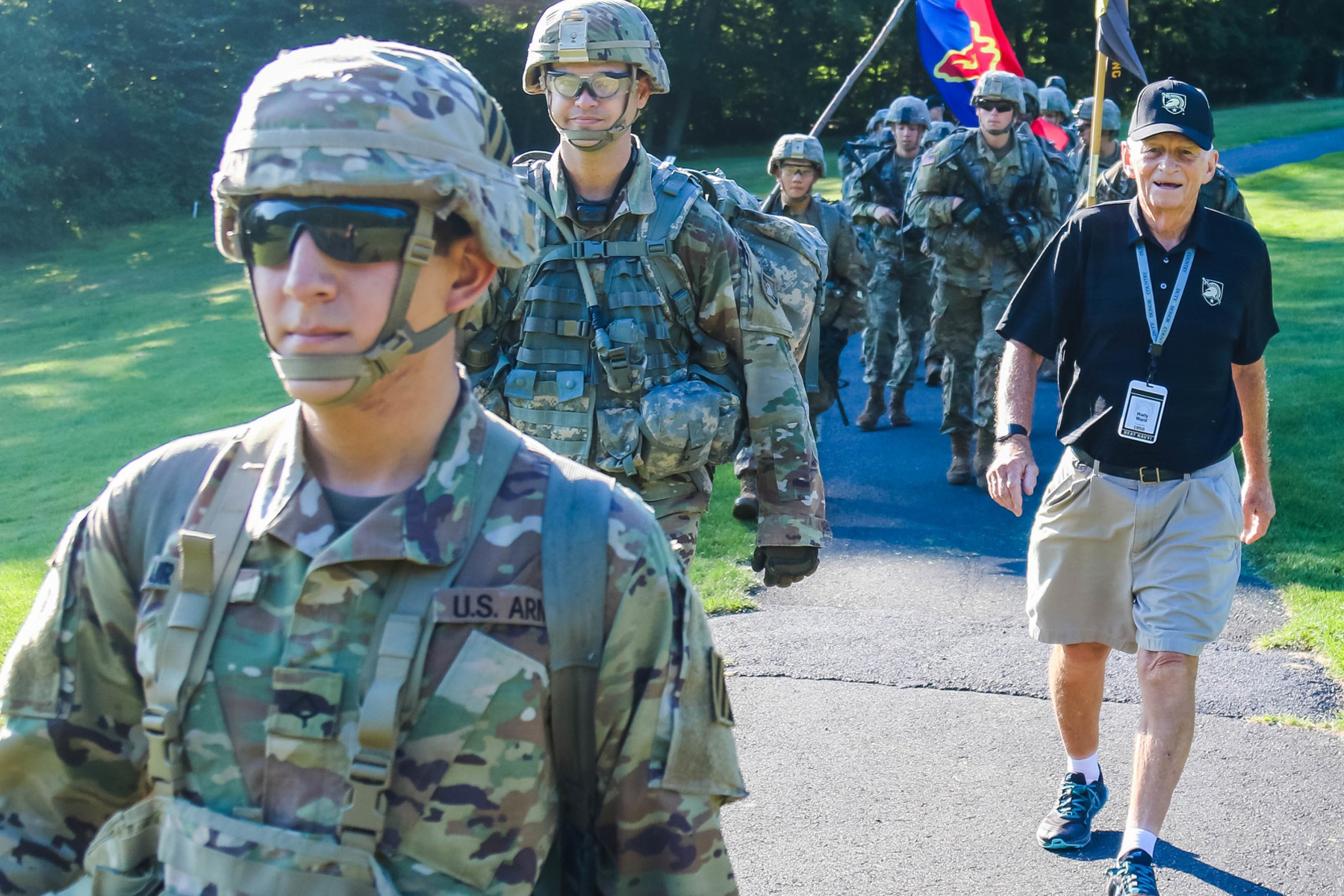 87-Year-Old West Point Grad Still Enjoys Marching with New Cadets