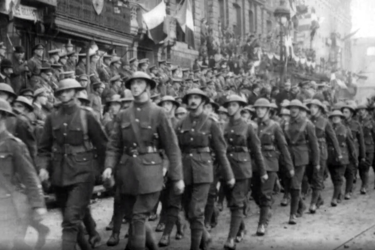 Liberation of Lille 1918.'