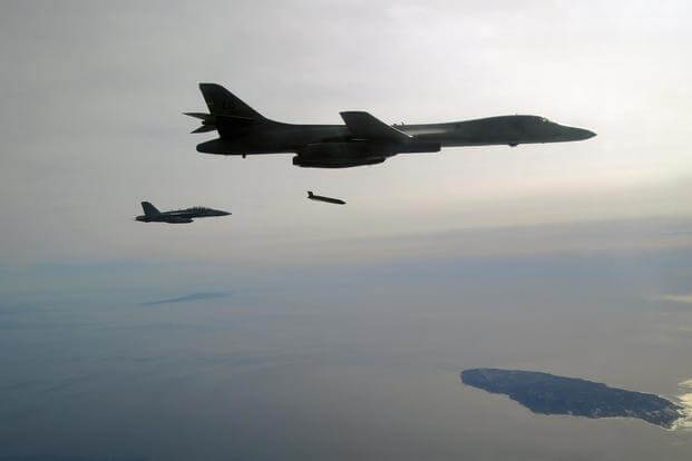 Lockheed Martin successfully fired production-configuration Long Range Anti-Ship Missiles from a U.S. Air Force B-1B bomber. (Photo: U.S. Navy)