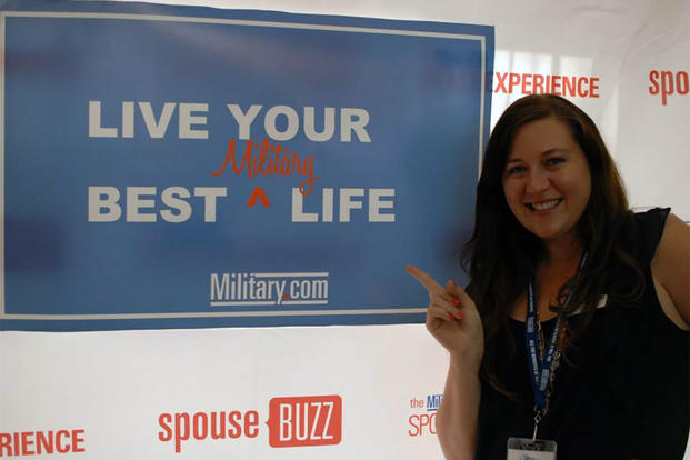 Katie Lopez smiles at the Military.com Spouse Summit. (Amy Bushatz/MIlitary.com)