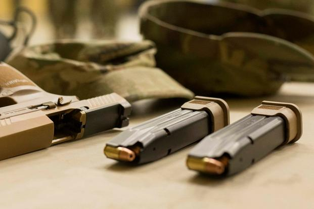 In January 2017, the Army selected Sig Sauer to produce the XM17 full-size MHS and the XM18 compact MHS. Sig Sauer partnered with Winchester to provide the ammunition. (U.S. Army photo)