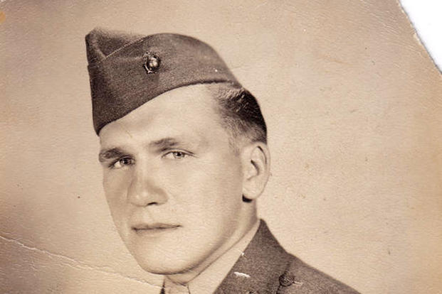 Private First Class Harold Schultz, USMC, was finally identified as the sixth person who participated in the famous flag-raising at Iwo Jima during World War II. (Photo courtesy of The Smithsonian Channel)
