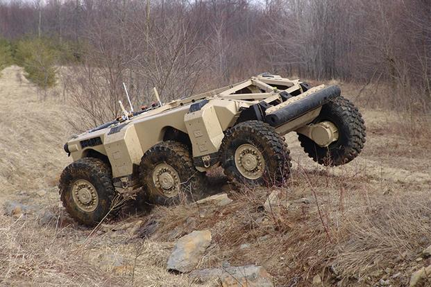 2018 demo of an autonomous combat vehicle as part of a DARPA's off-road autonomy program to support the U.S. Army Tank Automotive Research, Development and Engineering Center (TARDEC) Autonomous Ground Resupply Mission. (Courtesy Photo: National Robotic Engineering Center)