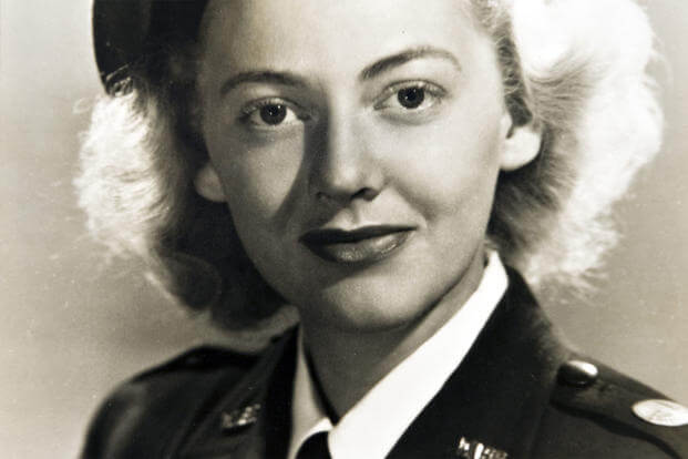 Betty Blake posed in her Women's Auxiliary Ferrying Squadron uniform in 1943. (Courtesy photo)