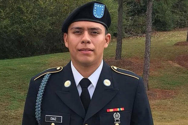 Pvt. Julian Diaz was killed while training at Fort Irwin, Calif. (Courtesy of U.S. Army)