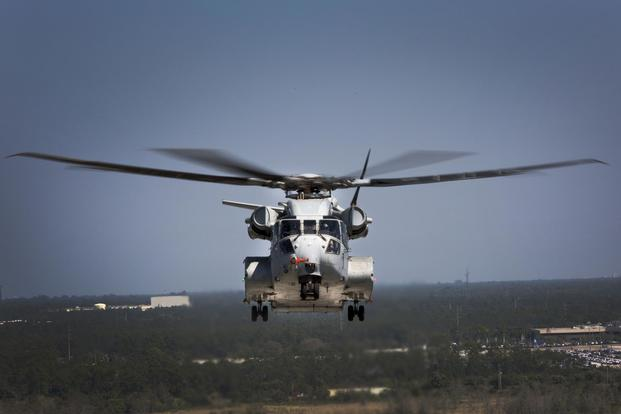 The CH-53K King Stallion flies a test flight in West Palm Beach, Fla. on March 22, 2017. (U.S. Marine Corps/Lance Cpl. Molly Hampton)