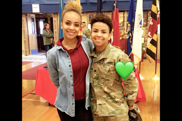 Meet jurnee the milspouse whos got a real shot on american idol milspouse jurnee and her soldier wife ashley m4hsunfo