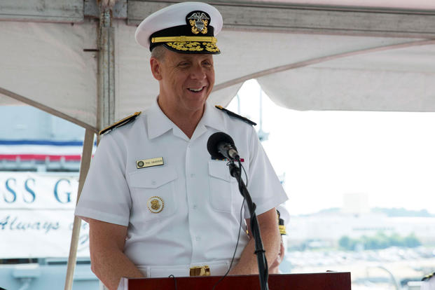 8a6cd8cbb8b Adm. Phil Davidson speaks at a change of command ceremony in which Rear Adm.