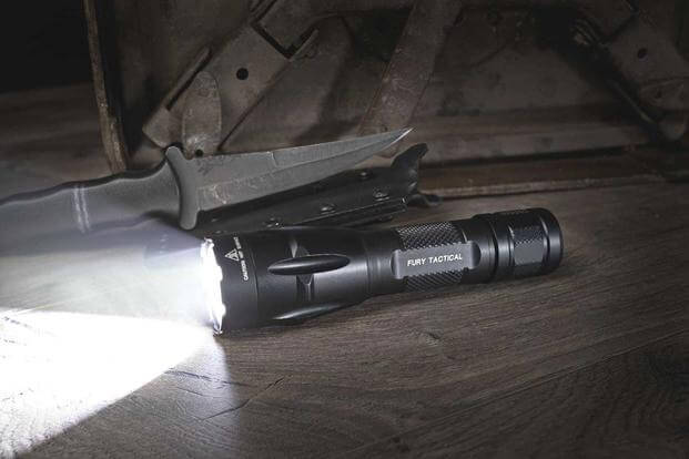 SureFire's new Fury DFT flashlight which can run on either two CR123A batteries or one 18650A rechargeable lithium-ion battery. (Photo: SureFire)