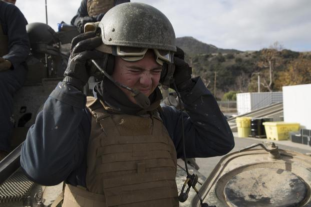 lcpl cole taylor 19 from san diego calif puts on his