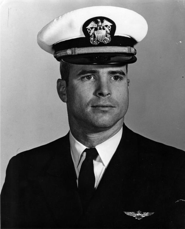 John McCain when he was a lieutenant in the Navy (Photo: Naval History and Heritage Command)