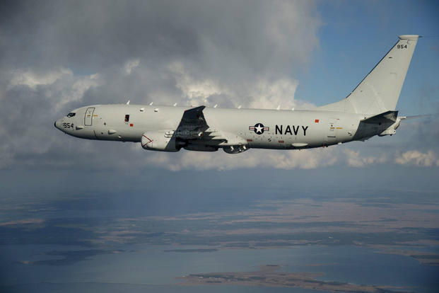The Navy's P-8A Poseidon antisubmarine aircraft, shown above. One Poseidon received a warning from the Chinese military during an Aug. 10 flight over the South China Sea. (US Navy photo)