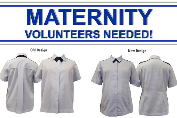 The Air Force Uniform Office at Wright-Patterson AFB is looking for volunteers to help with wear testing the new Maternity Service Dress Shirt. (Wright-Patterson AFB Facebook photo)