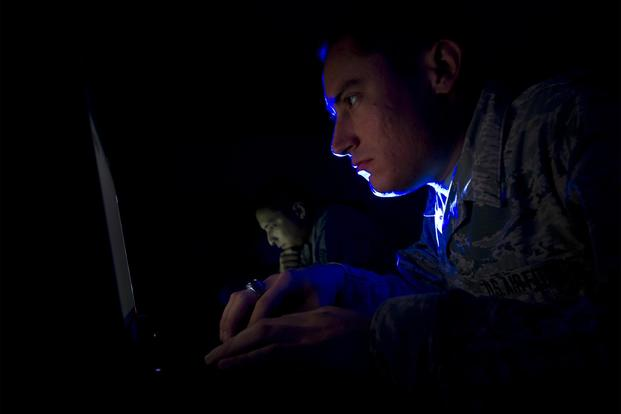 The Cyber Squadron Initiative is a pathfinder for innovation within the Air Force cyber domain that combines Airmen from different Air Force specialty codes to enhance cyber surety on Air Force installations. (U.S. Air Force/Senior Airman Solomon Cook)