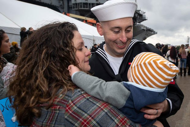 USS Truman and its 6,500 Sailors Return Home in Time for