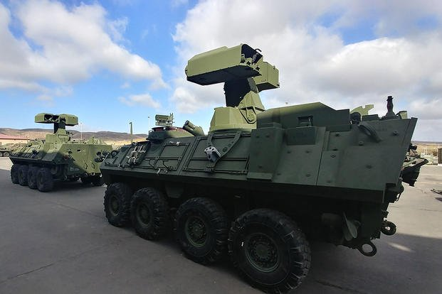 Anti-Tank Weapon Systems are mounted on Light Armored Vehicle-Anti-tank variants at Camp Pendleton, Calif., Sept. 20, 2017. (U.S. Marine Corps photo/Michael Lovell)