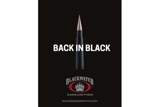 A  Blackwater Ammunition ad. Via Facebook