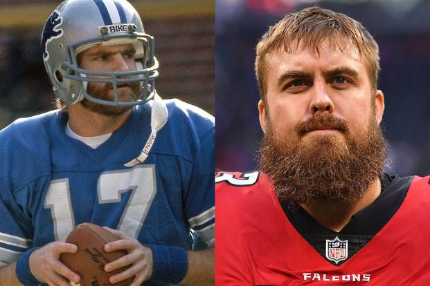 Former Detroit Lions QB Eric Hipple and Atlanta Falcons Guard Ben Garland  are finalists for the NFL s Salute to Service Award. 8579b62cf