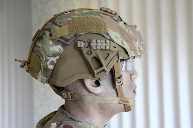 The U.S. Army's new Integrated Head Protection System. (Military.com/Matthew Cox)