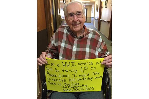 WWII Vet Wanted 100 Birthday Cards He Got More Than A Thousand
