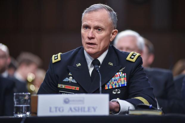 Defense Intelligence Agency Director Lt. Gen. Robert P. Ashley Jr. responds to a question during an open hearing on worldwide threats facing the nation to the Senate Select Committee on Intelligence, Jan. 29, 2019, on Capitol Hill. (Photo by Brian Murphy/Defense Intelligence Agency)