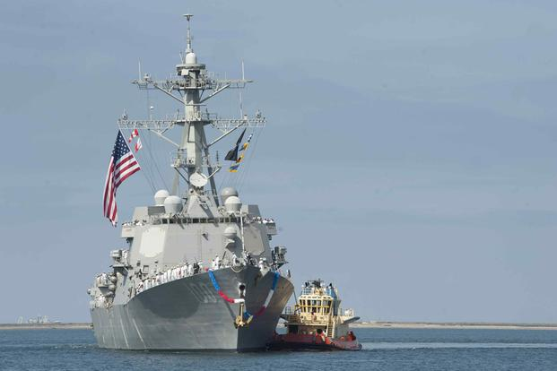 The USS Kidd returns to Naval Base San Diego following a seven-month deployment.