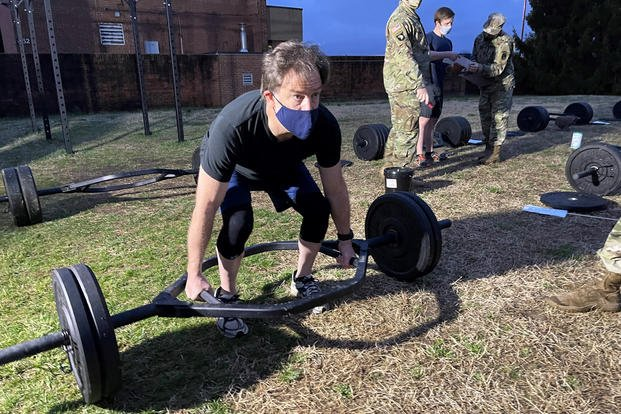 Matthew Cox took the Army's new combat fitness test (ACFT) at Ft. Myer