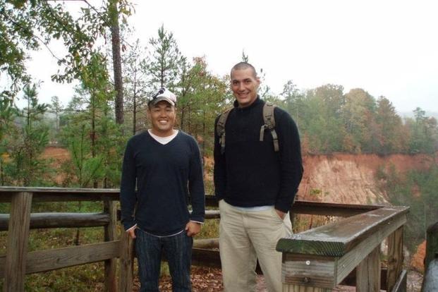 Japanese Army Col. Masahiro Oda and U.S. Marine Corps veteran Austin Tice
