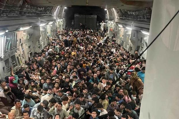 U.S. Air Force C-17 Globemaster III safely transported 823 Afghan citizens