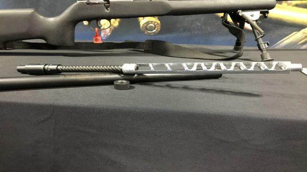 Hailey Ordnance's AeGIS suppressor system on display at SHOT Show.
