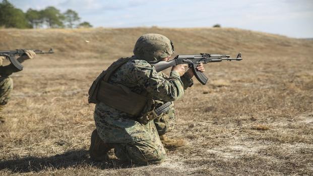 marines fire ak