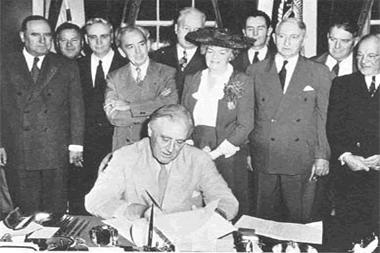 Signing of Orignal GI Bill