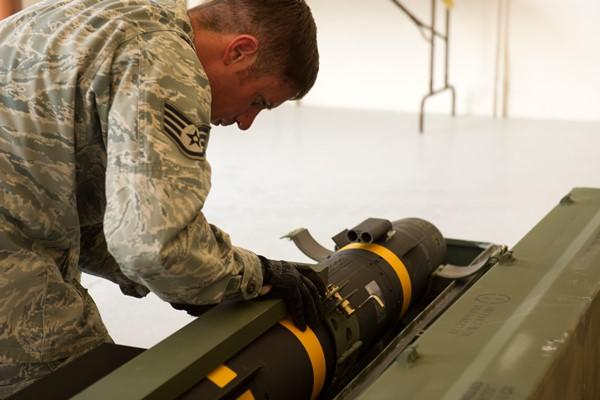 The Hellfire missile is used in drone strikes to kill terrorists. The Air Force says it has about 2,300 left until the supply runs out. (US Air Force)