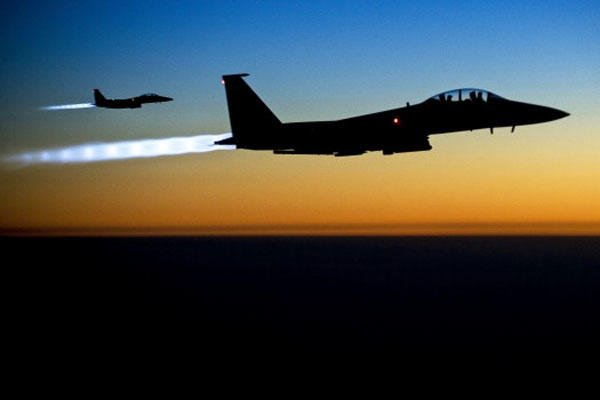 US F-15E fighter-bombers struck an ISIS training camp in rural Libya on Feb.19; two Serbian hostages are believed to have been killed in the attack. (Air Force/Matthew Bruch)