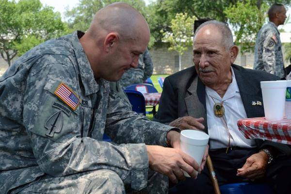 Retired Army Sergeant visits