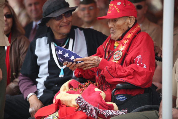 Chester Nez, the last surviving Navajo code talker from Platoon 382