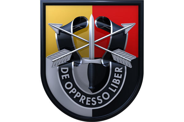SPECIAL FORCES AIRBORNE PATCH BADGE OD Green Berets De oppresso liber US ARMY