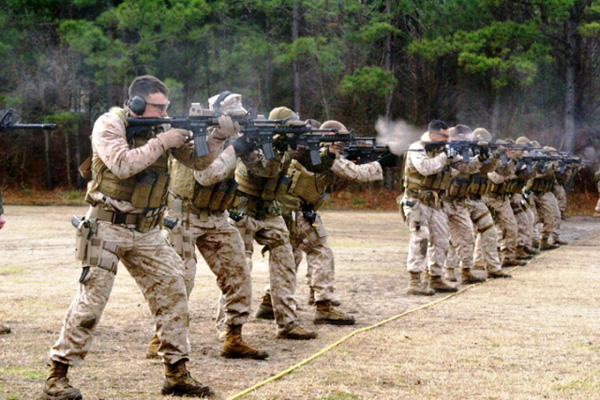 MARSOC rifle training.