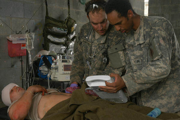 528th Sustainment Brigade medical training.