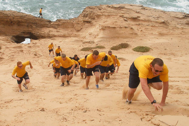 Group Military Physical Fitness Test (PFT) Training