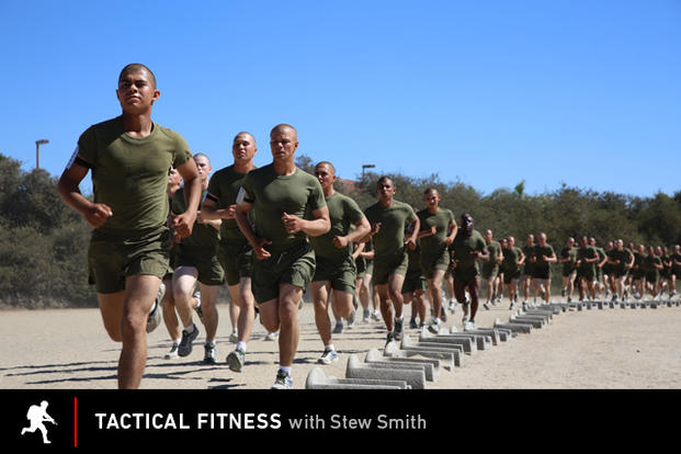 Tactical Fitness recruits running on beach
