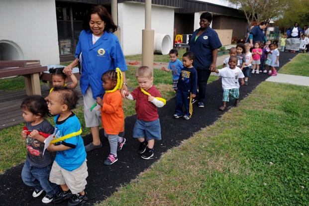 Naval Support Activity Hampton Roads Child Development Center hosts a Month of the Military Child parade (Navy Photo)