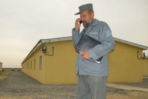 This Afghan army official was stuck with the keys to a new police barracks when the police commander refused to take them because of shoddy construction. (Fox News photo)