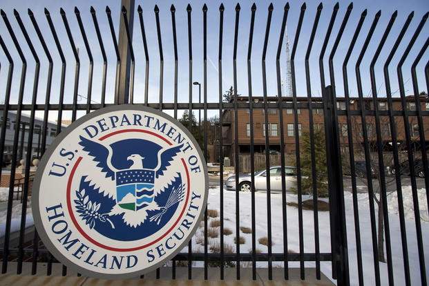 In this Feb. 25, 2015, file photo, the Homeland Security Department headquarters in northwest Washington. Manuel Balce Ceneta/AP