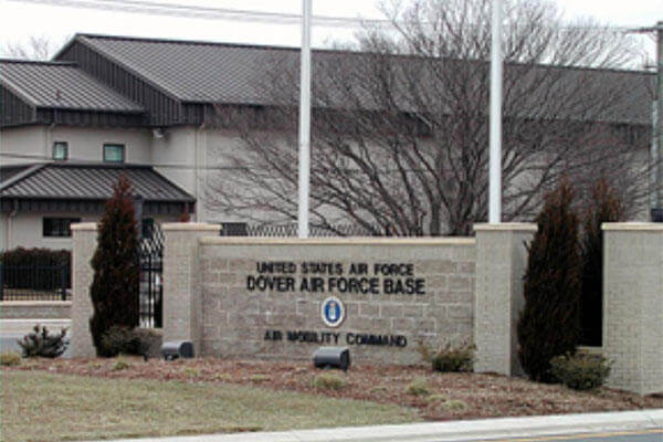 Entrance to Dover Air Force Base.