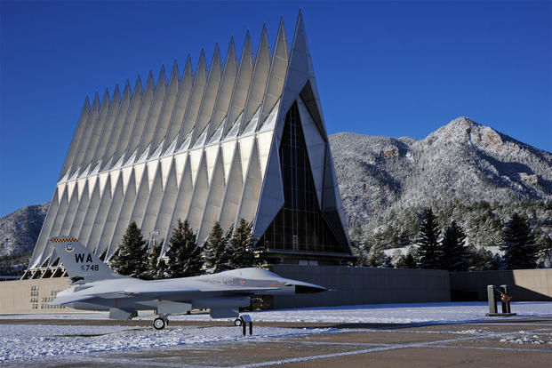 Air Force Academy Chapel in the winter (U.S. Air Force photo/Mike Kaplan)