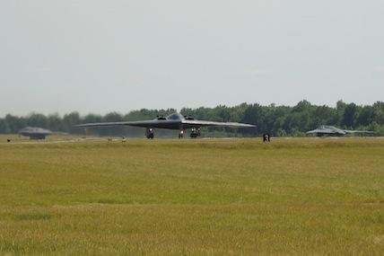 A B-2 Spirit taxis down the runway in support of Air Force Global Strike Command's exercise Constant Vigilance at Whiteman Air Force Base, Mo., on June 7, 2012.